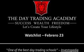 Watchlist Acciones USA Febrero 23 2015