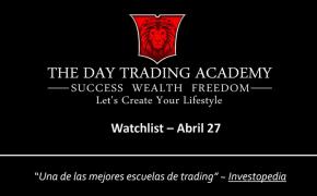 Watchlist Acciones USA Abril 27 2015