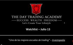 Watchlist Acciones USA Julio 13 2015