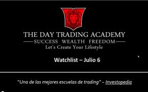 Watchlist Acciones USA Julio 06 2015