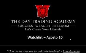 Watchlist Acciones USA Agosto 10 2015
