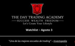 Watchlist Acciones USA Agosto 03 2015