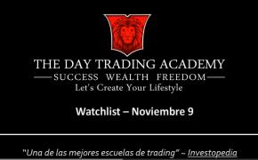 Watchlist Acciones USA Noviembre 09 2015