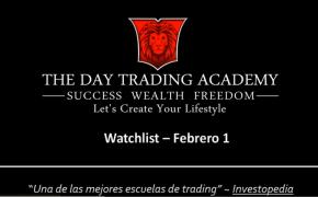 Watchlist Acciones USA Febrero 01 2016