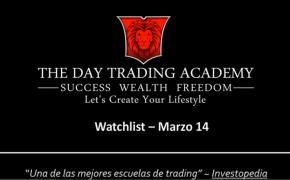 Watchlist Acciones USA Marzo 14 2016