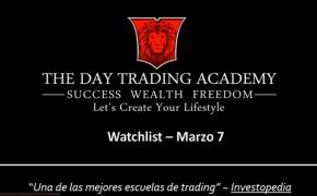 Watchlist Acciones USA Marzo 07 2016
